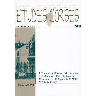 Études corses n° 56