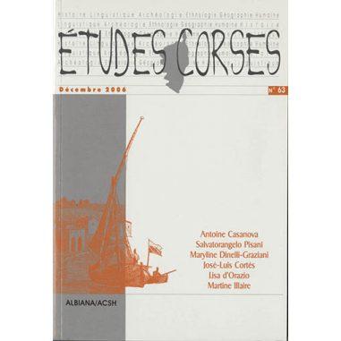Études corses n° 63