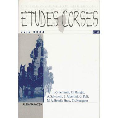 Études corses n° 58