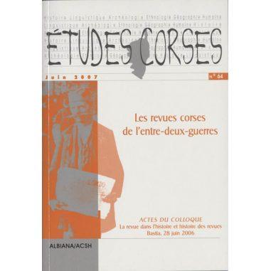 Études corses n° 64