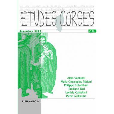 Études corses n° 65