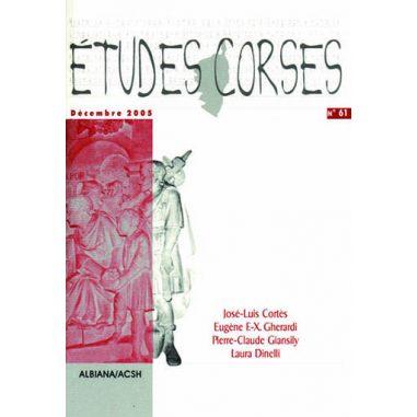 Études corses n° 61