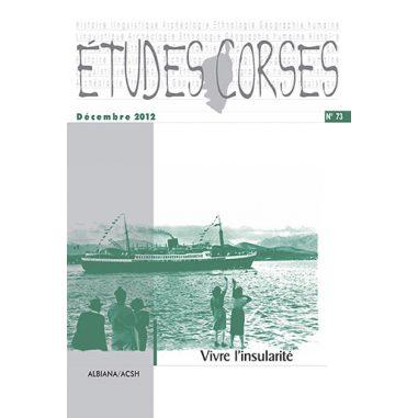 Études corses n° 73