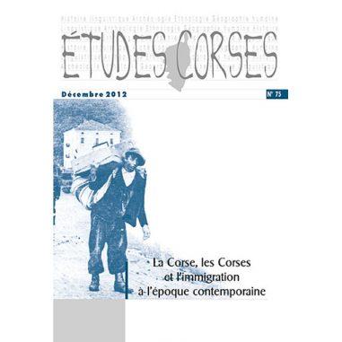 Études corses n° 75