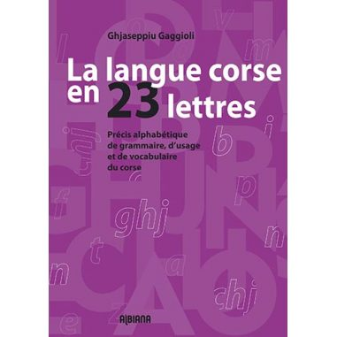 La langue corse en 23 lettres