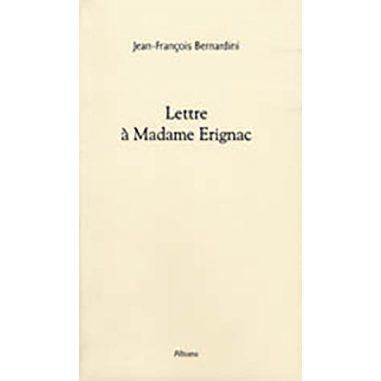 Lettre à Madame Érignac