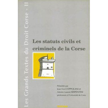 Les statuts civils et criminels de la...