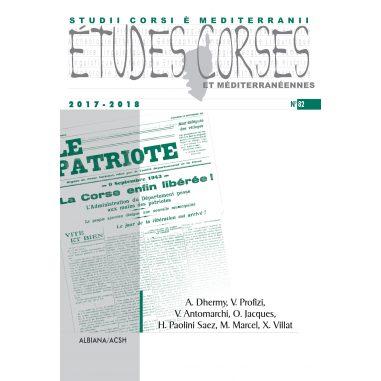 Études corses n° 82