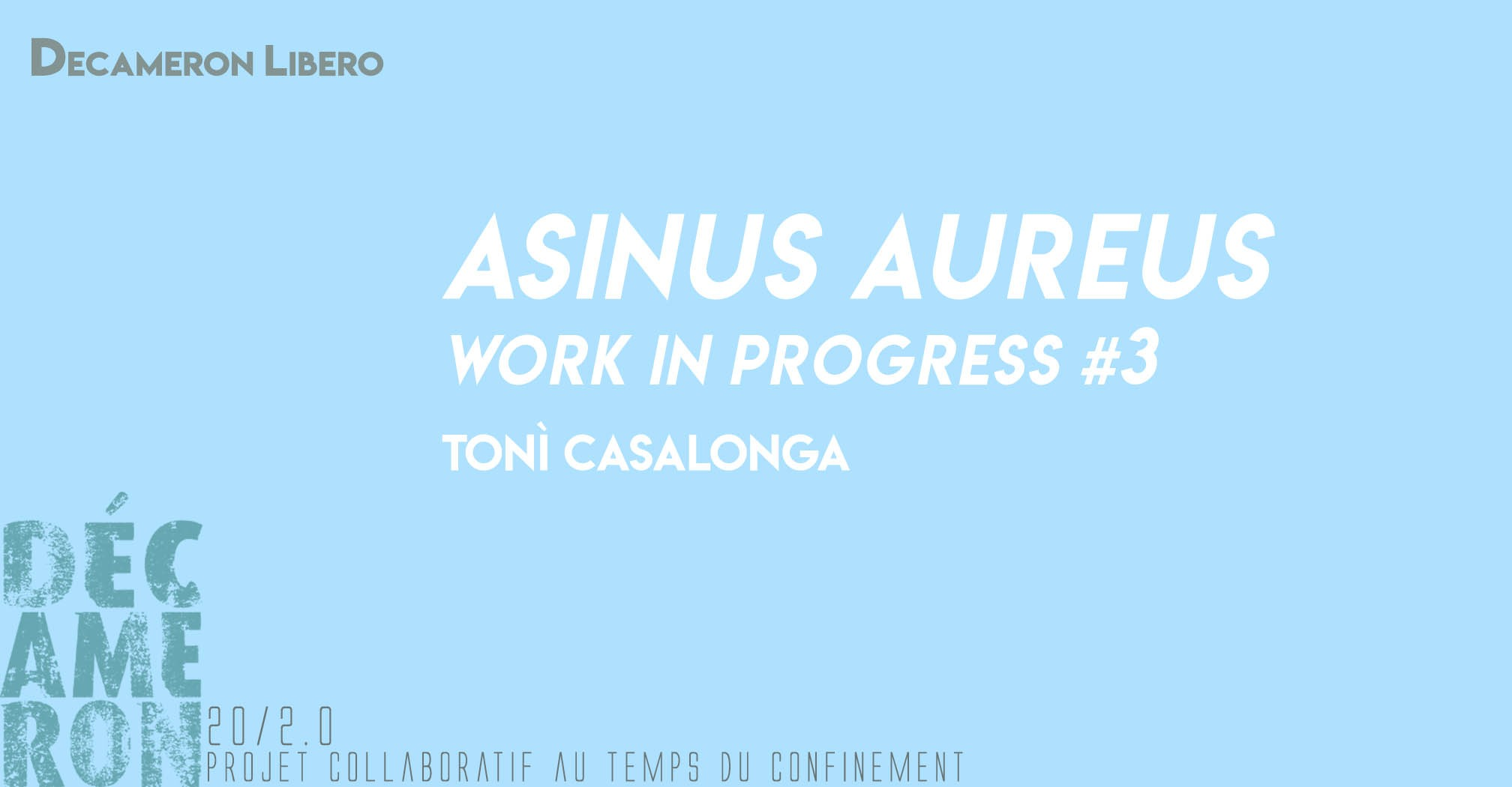 Asinus Aureus - Work in progress #3 - Tonì Casalonga