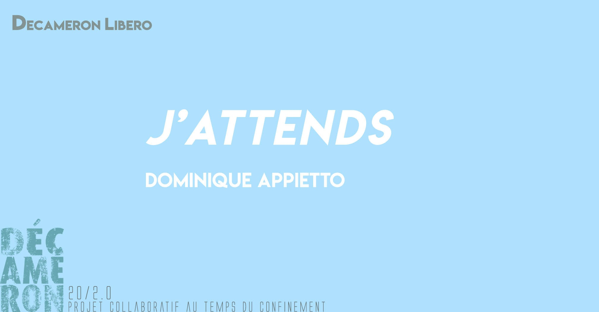 J'attends - Dominique Appietto