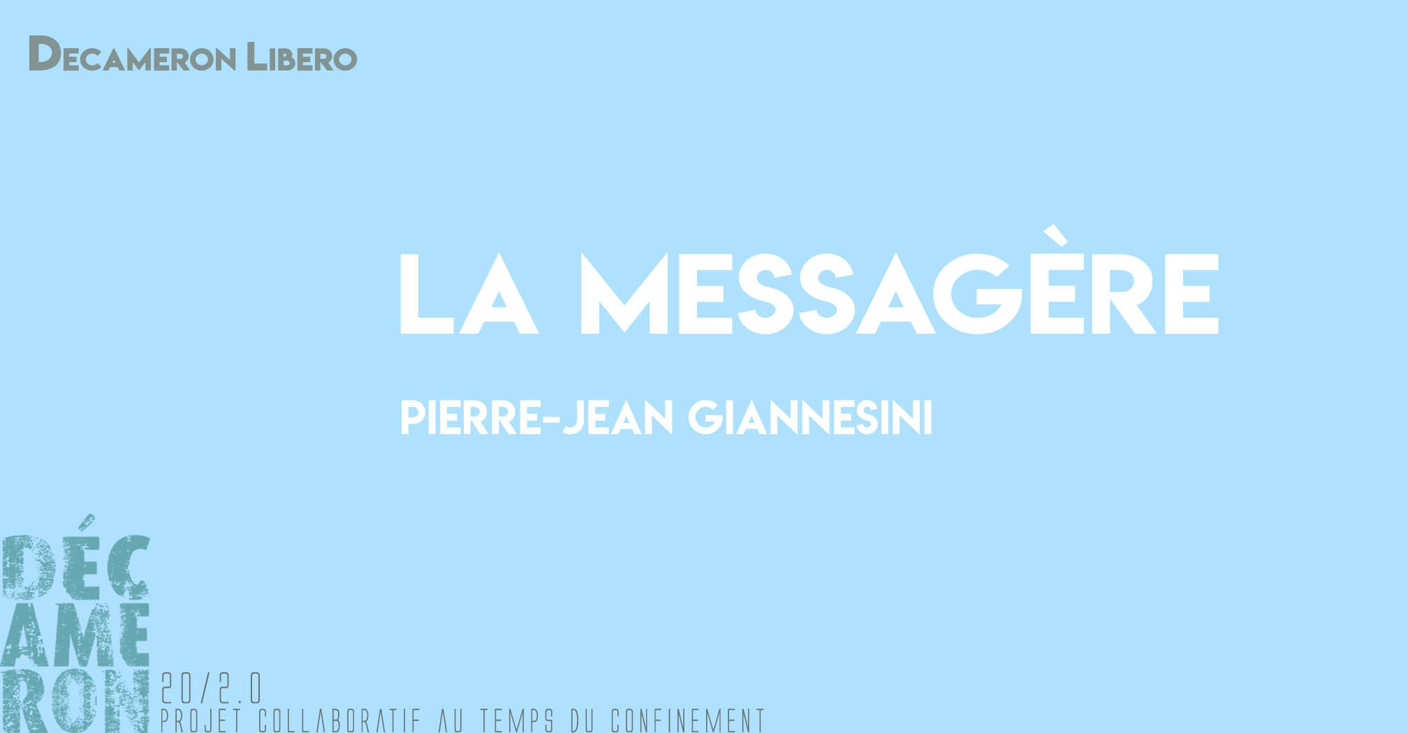 La messagère - Pierre-Jean Giannesini
